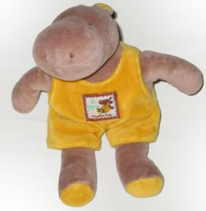 Peluche hippopotame, collection Les Zazous Moulin Roty