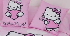 Coussin Hello Kitty rose ange et fée Hello Kitty - Sanrio