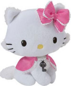 Peluche Charmmy Kitty noeud et cape rose sos