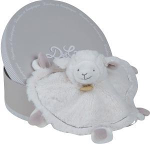 doudou mouton plat rond blanc et taupe dc2429 doudou et compagnie. Black Bedroom Furniture Sets. Home Design Ideas