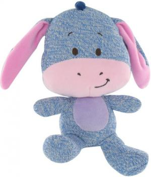 Peluche Bourriquet bleu et rose collection Tricot Disney Baby, Nicotoy, Simba Toys (Dickie)