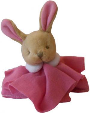 mini doudou lapin l 39 ange rose fonc dc2357 doudou et compagnie. Black Bedroom Furniture Sets. Home Design Ideas