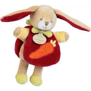 doudou mini lapin cape rouge et carotte doudou et compagnie. Black Bedroom Furniture Sets. Home Design Ideas