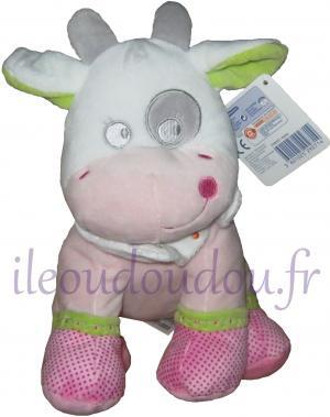 Peluche doudou vache rose mots d 39 enfant leclerc - Creer un doudou pour bebe ...
