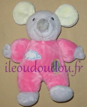 Peluche souris rose parachute Gipsy