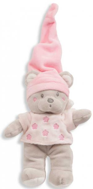 Doudou peluche ours rose Nicotoy