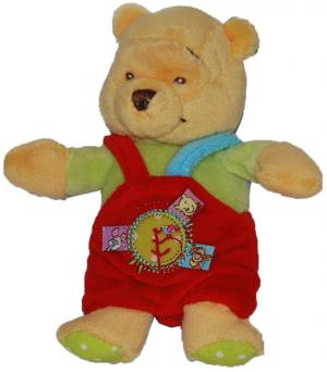 Petite peluche Winnie l'ourson salopette rouge Disney Baby, Nicotoy, Simba Toys (Dickie)