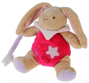 Peluche lapin marron et rose luminescent - BN794 Baby Nat