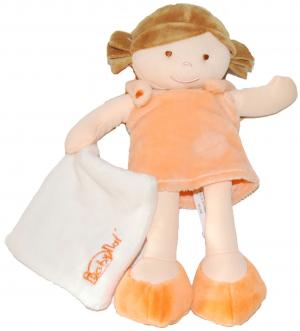 Poupée orange tenant un doudou Les p'tites chipies Grand Modèle BN758 Baby Nat