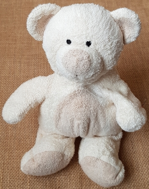 doudou peluche ours beige crème - The Baby Collection Nicotoy