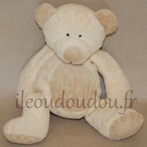 doudou peluche ours beige crème Nicotoy, Simba Toys (Dickie)