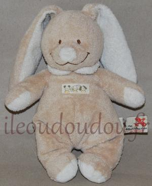 Doudou lapin marron clair - The Baby Collection Nicotoy