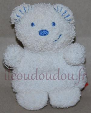 Peluche mini ours blanc Tex Baby