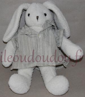 Peluche lapin beige crème Moulin Roty