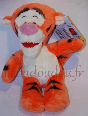 Doudou peluche tigre Tigrou orange et jaune - Flopsies too Disney Baby, Nicotoy