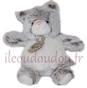 boule chat blanc et marron gris Z\'ANIMOOS - petit modèle - HO2351 ...