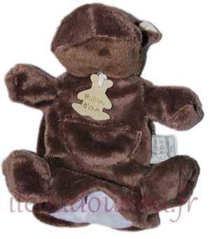 marionnette hippopotame marron fonc ho1259 histoire d 39 ours. Black Bedroom Furniture Sets. Home Design Ideas