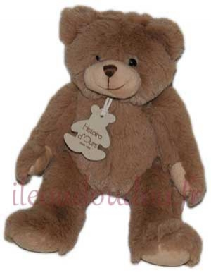Peluche ours marron CALIN'OURS - HO1155 Histoire d'ours