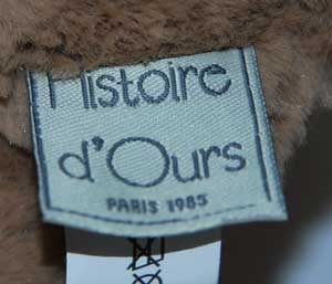 Peluche ours marron CALIN'OURS - HO1155 sos