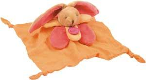 Doudou lapin orange *langes colorés* - BN031 Baby Nat