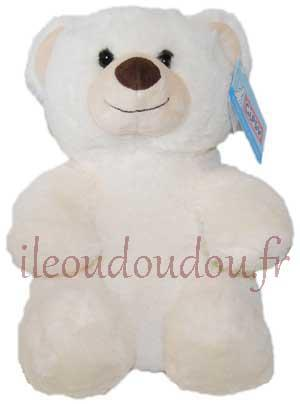 Peluche ours assis crème Huggy bear tendresse Gipsy
