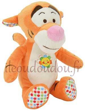Peluche Tigrou orange et pois *Good morning* Disney Baby, Nicotoy, Simba Toys (Dickie)