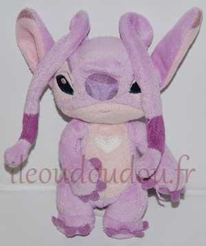 Peluche Angel *Lilo et Stitch* rose mauve et violet - Disneyland Paris Disney Baby