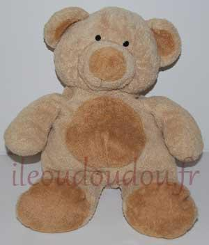 Peluche ours marron Nicotoy