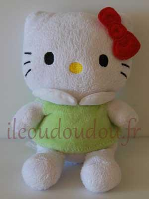 Hello Kitty en habit vert et noeud rouge Hello Kitty - Sanrio