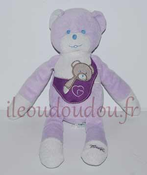 Ours peluche violet Mustela Musti, Marques pharmacie