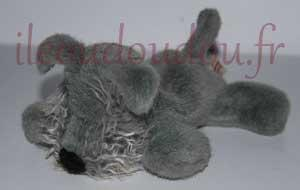 Peluche chien gris Gipsy