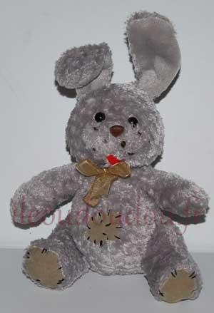 Peluche lapin gris Gipsy