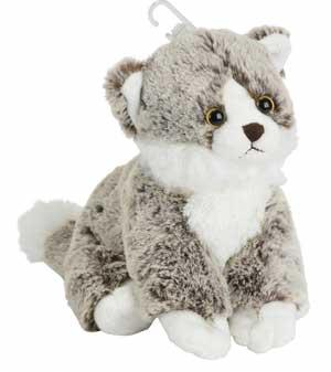 Chat peluche marron gris Nicotoy, Simba Toys (Dickie)