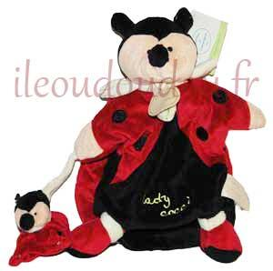 marionnette coccinelle rouge noir et vert lady cocci. Black Bedroom Furniture Sets. Home Design Ideas