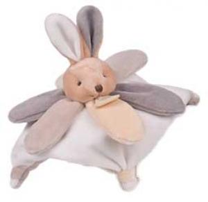 mini doudou lapin blanc marron clair beige gris et taupe collector dc2790 doudou et compagnie. Black Bedroom Furniture Sets. Home Design Ideas