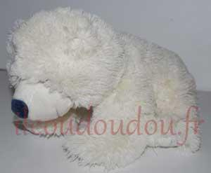 Peluche ours blanc  Gipsy