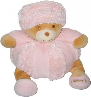 ours boule patapouf rose avec bonnet, collection Volga Takinou