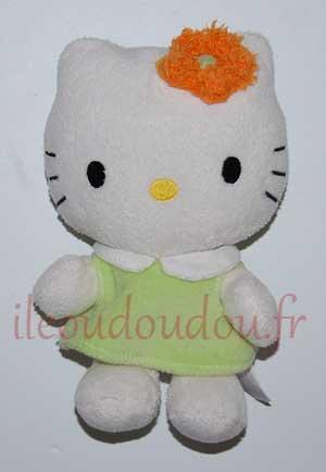 Hello Kitty robe verte et fleur orange Hello Kitty - Sanrio