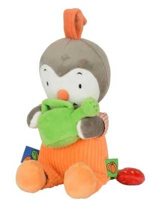 Peluche musicale T'choupi orange tenant un arrosoir vert Nicotoy, Simba Toys (Dickie), T'Choupi