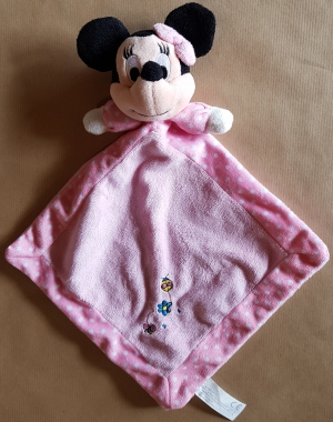 doudou minnie rose pois blancs disney baby nicotoy. Black Bedroom Furniture Sets. Home Design Ideas