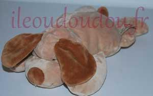 Peluche chien marron *The Baby Collection* Nicotoy