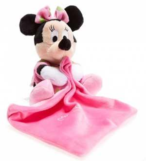Peluche Minnie phosphorescente tenant un mouchoir rose Disney Baby, Nicotoy, Simba Toys (Dickie)