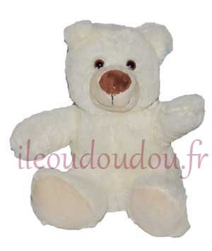 Peluche ours assis blanc Nicotoy, Simba Toys (Dickie)