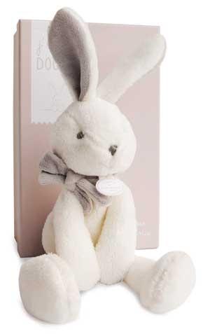 peluche lapin blanc