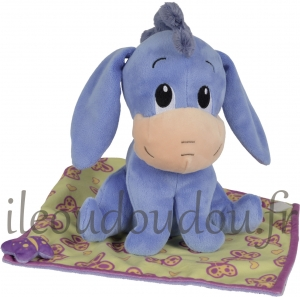 Bourriquet peluche avec couverture Disney Baby, Nicotoy, Simba Toys (Dickie)