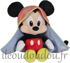 Mickey peluche avec couverture Disney Baby, Nicotoy, Simba Toys (Dickie)