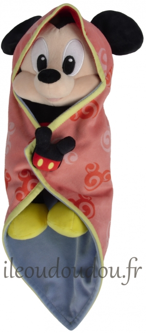 Mickey peluche avec couverture sos
