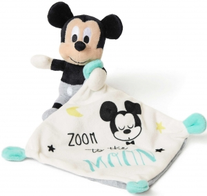 Doudou Mickey bleu Zoom to the Moon Disney Baby, Nicotoy, Simba Toys (Dickie)