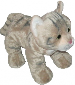 Peluche chat tigré marron taupe  Gipsy