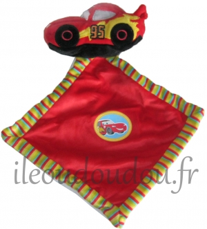 Doudou Cars Mac Queen voiture rouge  Nicotoy, Simba Toys (Dickie), Disney Baby